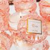 Εικόνα με Μπομπονιέρα αρωματικό κερί ροζ γυάλινο με άρωμα rose