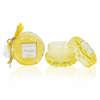 Εικόνα με Μπομπονιέρα αρωματικό κερί κίτρινο γυάλινο με άρωμα moonlight