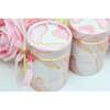 Εικόνα με Μπομπονιέρα αρωματικό κερί marble ροζ