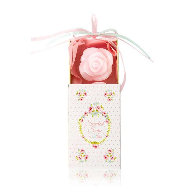 Εικόνα με Μπομπονιέρα Σαπουνάκια Λουλουδάκια Σε Κουτάκι Βlossom