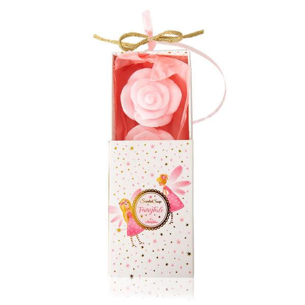 Εικόνα με Μπομπονιέρα Σαπουνάκια Λουλουδάκια Σε Κουτάκι Με Νεράιδες
