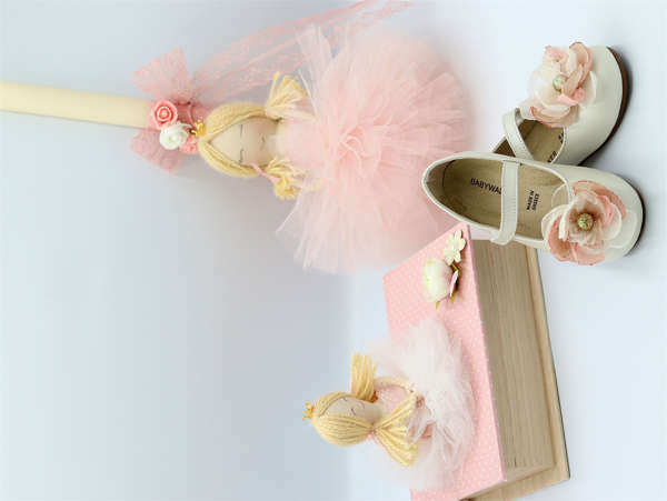 Εικόνα με Λαμπάδα πασχαλινή μπαλαρίνα ροζ
