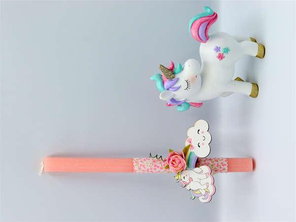Εικόνα με Πασχαλινή λαμπάδα μονόκερος unicorn