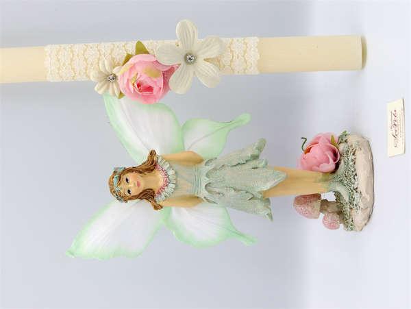 Εικόνα με Πασχαλινή λαμπάδα νεράιδα με φτερά