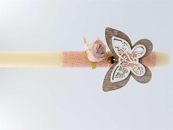 Εικόνα με Πασχαλινή λαμπάδα με διακοσμητική πεταλούδα