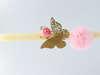 Εικόνα με Λαμπάδα πασχαλινή ξύλινη πεταλούδα μαγνητάκι