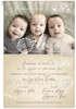 Εικόνα με Προσκλητήριο βάπτισης για αδερφάκια post card