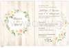 Εικόνα με Προσκλητήριο γάμου στεφάνι με λουλούδια