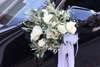 στολισμός αυτοκινήτου γάμου με θέμα ελιά