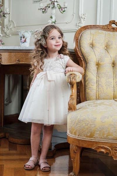 Εικόνα με Βαπτιστικό φόρεμα Bambolino Dionisia 9146