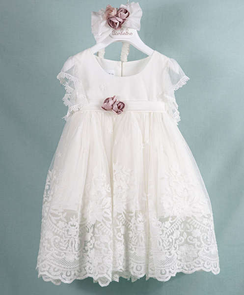 Εικόνα με Βαπτιστικό φόρεμα Bambolino Rachel 9350